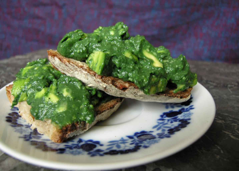 Vitale lunch, een groen broodje