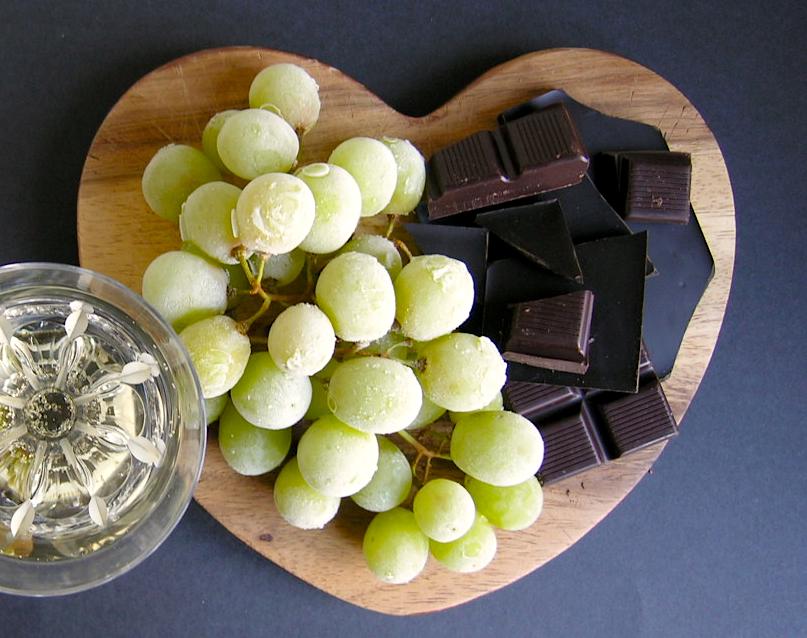 Bubbels + chocola + bevroren druiven