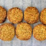 Gember-rozemarijn koekjes van kikkererwtenmeel (glutenvrij)