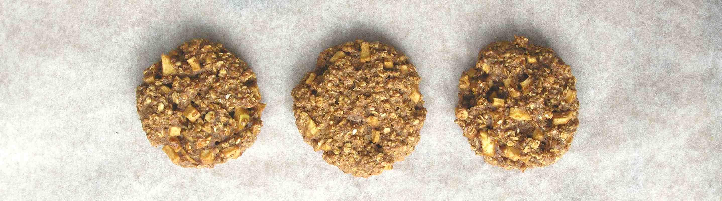 Suikervrije appel oatmeal cookies