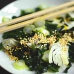 Venkel wakame salade met gember-wasabi vinaigrette