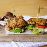Vegan shiitake burgers