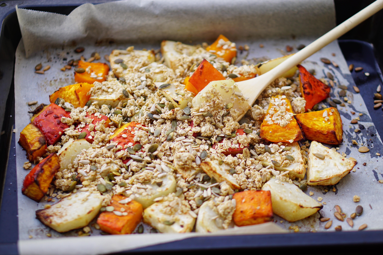 HARTIGE KNOLLEN-CRUMBLE   (vegan) wintergerecht uit de oven