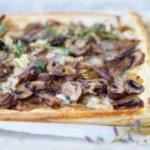 PADDESTOELEN PLAATTAART | met Roquefort en verse tijm
