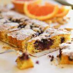 GLUTENVRIJE AMANDEL-POLENTA CAKE | met bosbessen en grapefruit