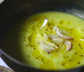 Avocado courgette soepje