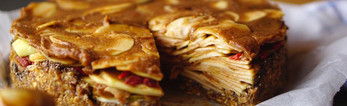 Raw appeltaart (vegan en glutenvrij)