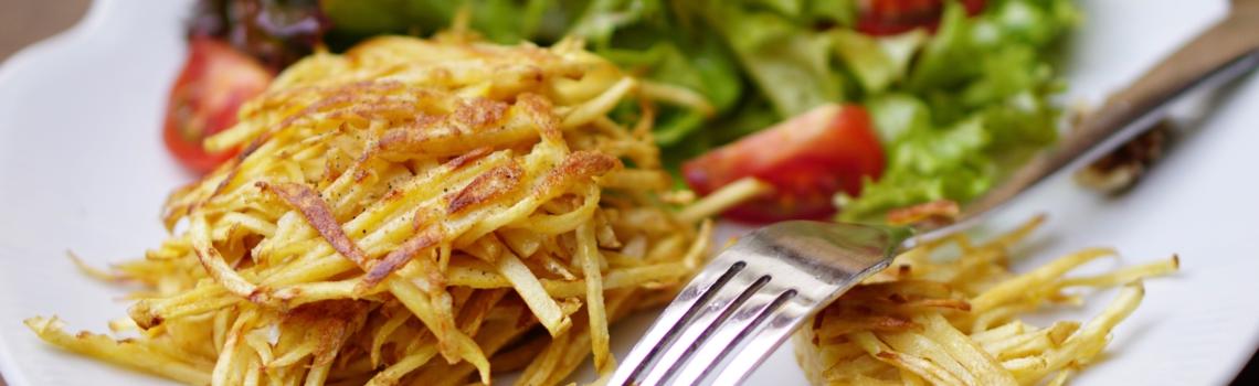 Pastinaak-rosti's   eet ze bij je favoriete salade