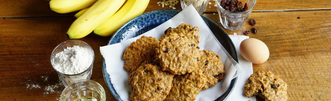 Suikervrije oatmeal cookies | super makkelijk recept!