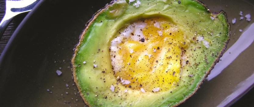Het ei in de avocado