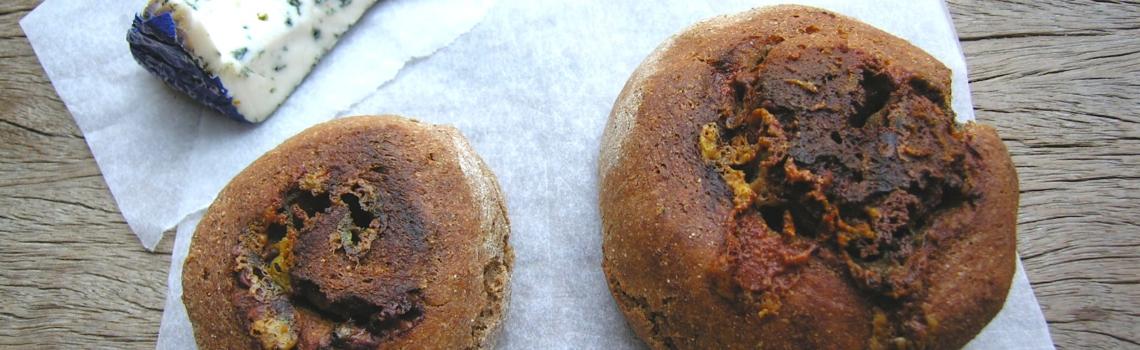 Blauwe kaasbroodjes