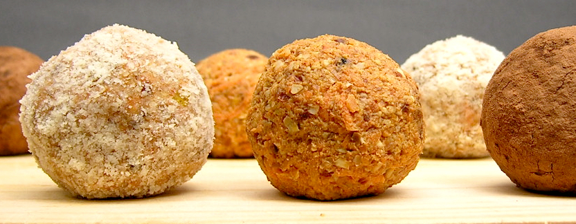 Wortelcakebollen (raw, vegan en glutenvrij)