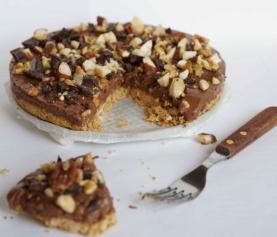 Chocolade noten 'Rocky Mountain' taartje