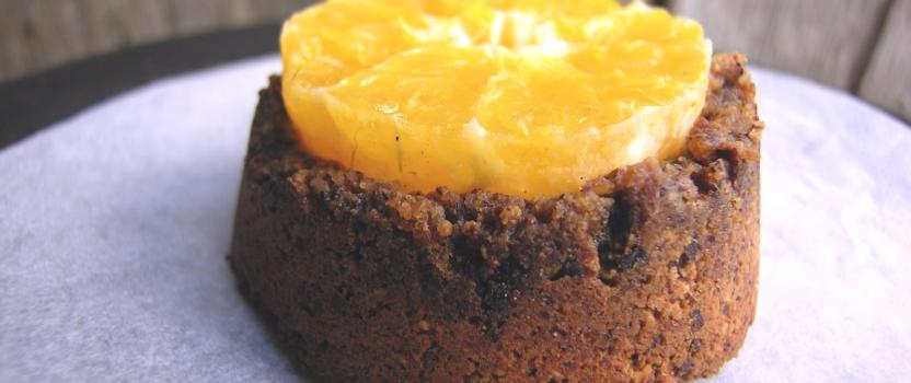 Eenvoudige glutenvrije clementine hazelnoot gebakjes
