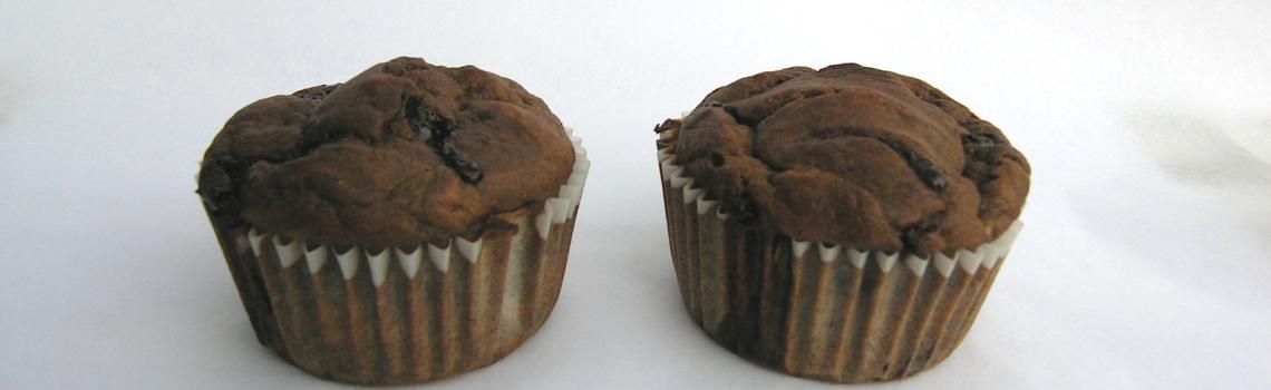 Eenvoudige vegan bananen muffins, gezoet met appelstroop