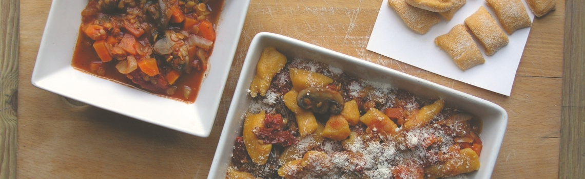 Zelfgemaakte gnocchi van zoete aardappel en salie!