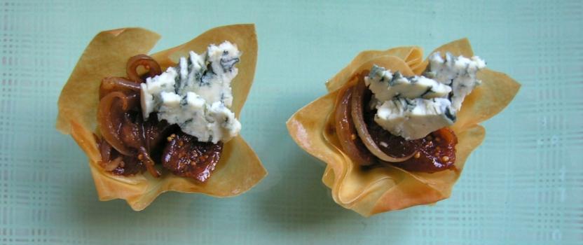In port gekonfijte vijgen met blauwe kaas