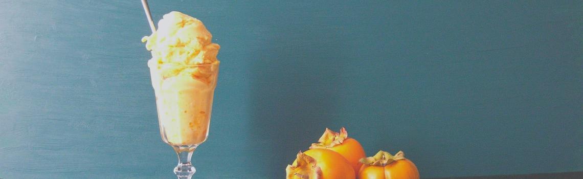 Kaki sorbet (vegan, suikervrij en maar 2 ingrediënten!)