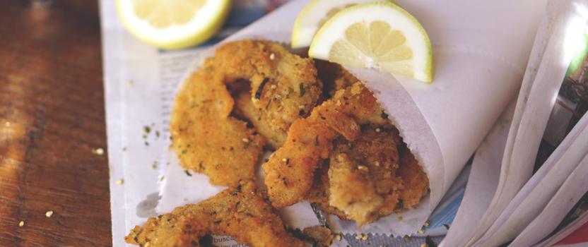 Vega 'calamares' van oesterzwammen