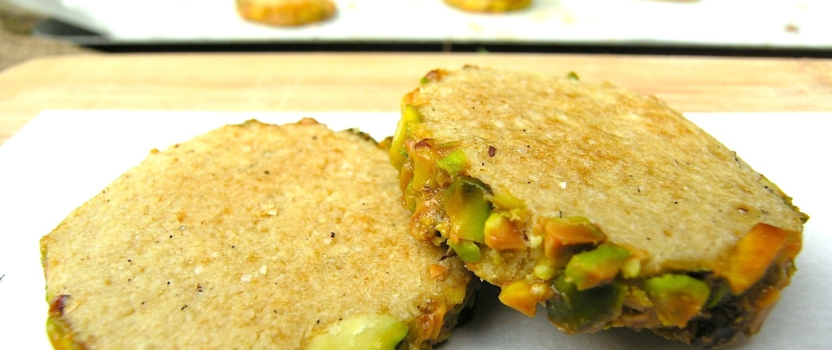Kardemomkoekjes met pistachekorst