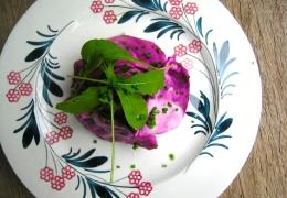 Simpele bietensalade met yoghurt-wasabidressing