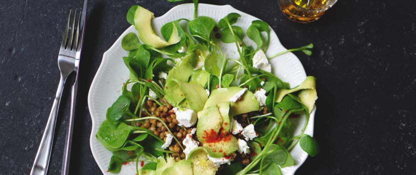 Snelle linzen salade