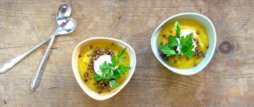 Heerlijke pompoensoep, een recept uit de Holland tas