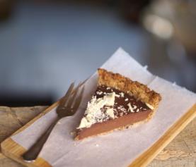 Vegan chocoladetaart (met verstopte pompoen in de vulling!)