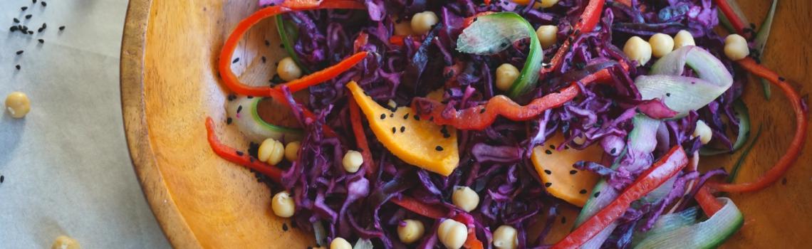 Winterse regenboog salade